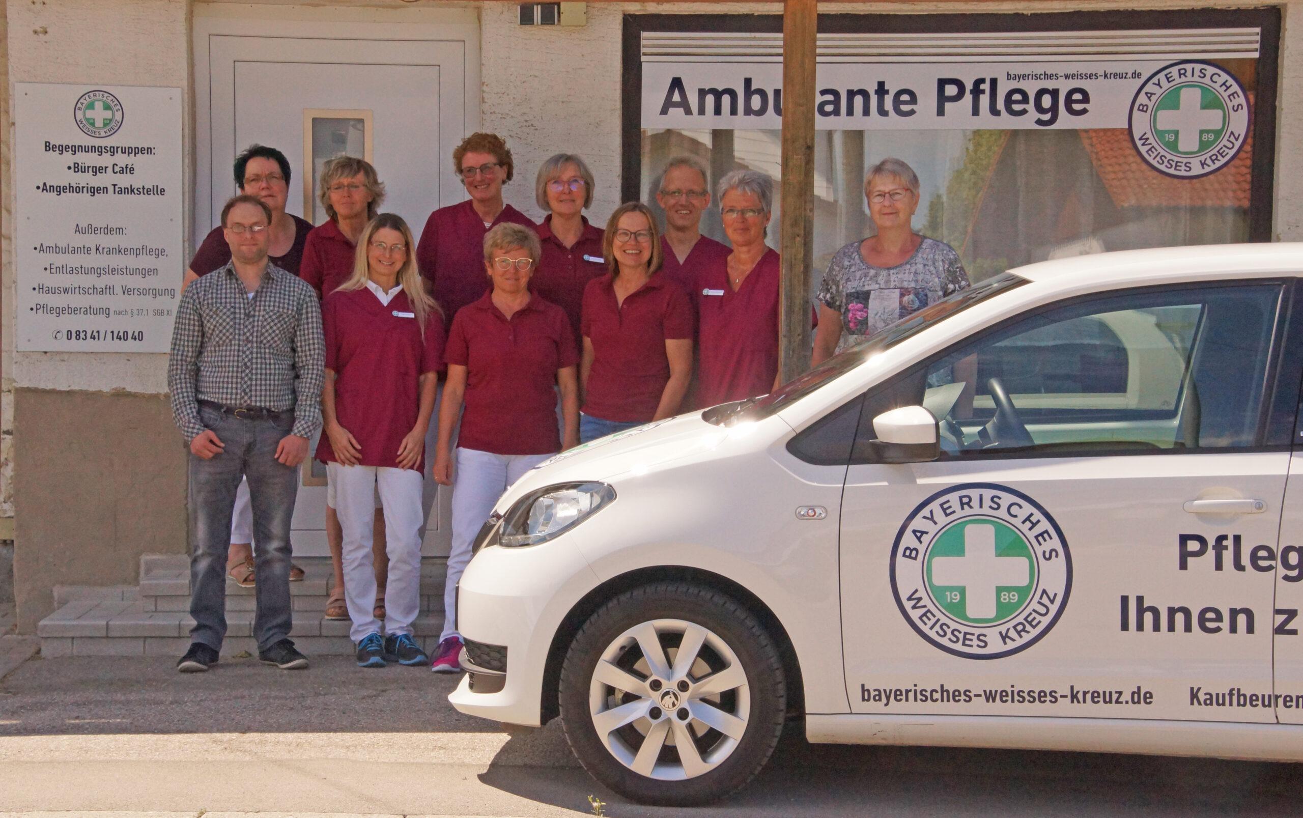 Willkommen beim Bayerischen Weissen Kreuz, Ihrem Sozialdienstleister in Kaufbeuren und Umgebung. Sie brauchen unsere Hilfe bei der Pflege, eine Beratung oder haben Fragen / Anregungen, dann schreiben Sie uns oder rufen Sie uns an.